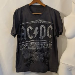 Rockware Shirts - AC/DC Back In The Black T Shirt sz L
